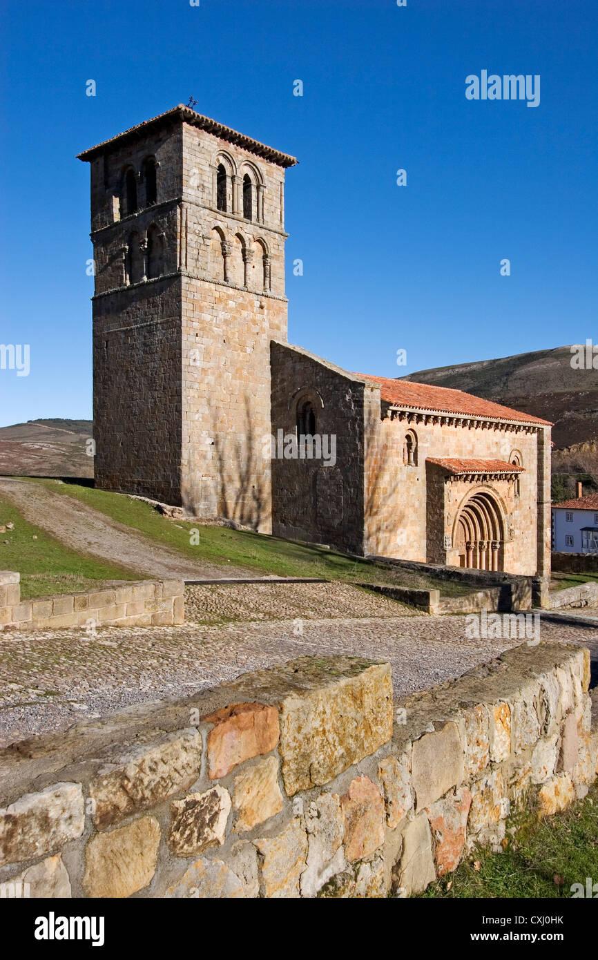 Collegiate church of San Pedro Cervatos Cantabria Spain colegiata romanica de san pedro cervatos españa - Stock Image