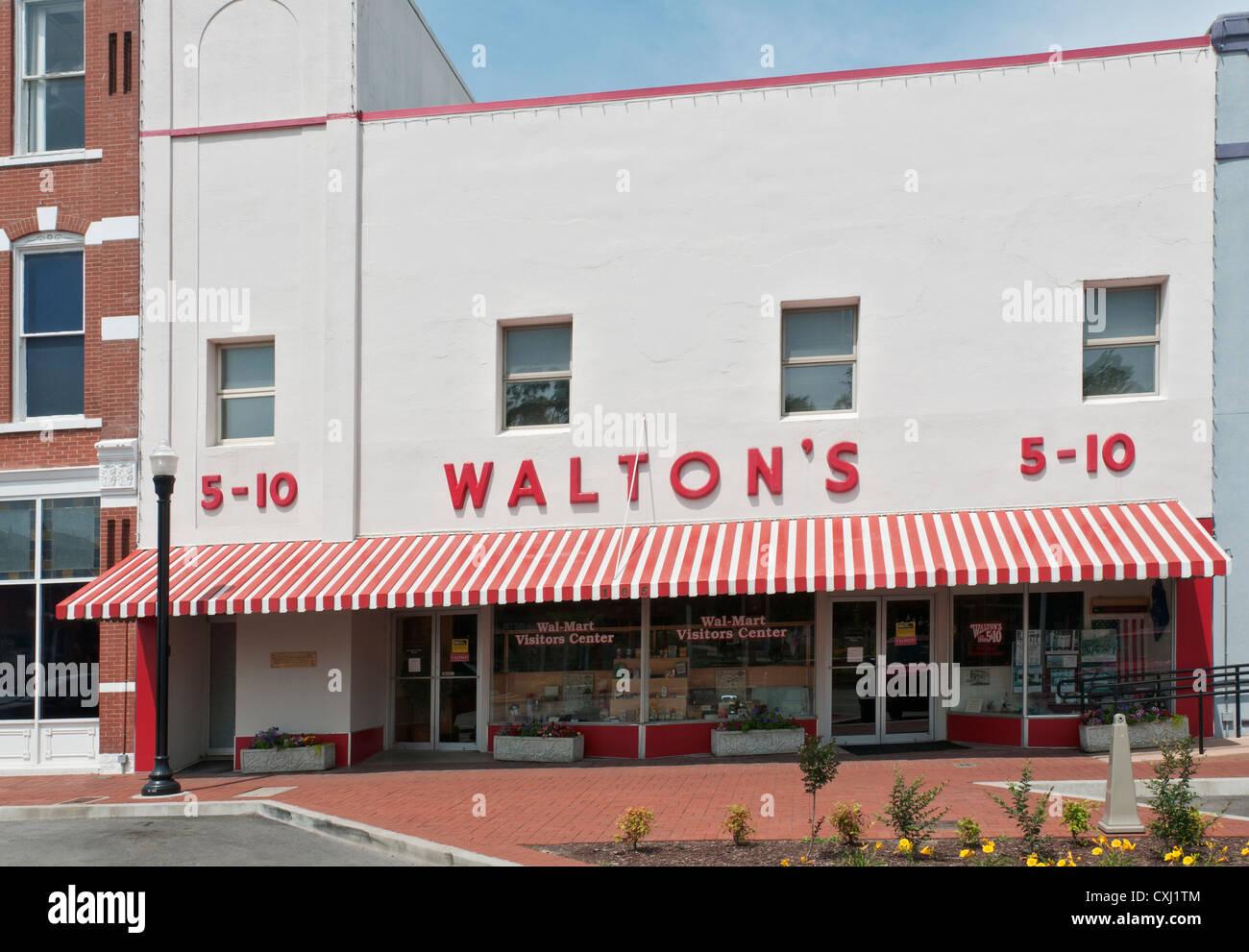 Arkansas Bentonville Wal Mart Visitor Center Located In Sam Waltons Original Varieity