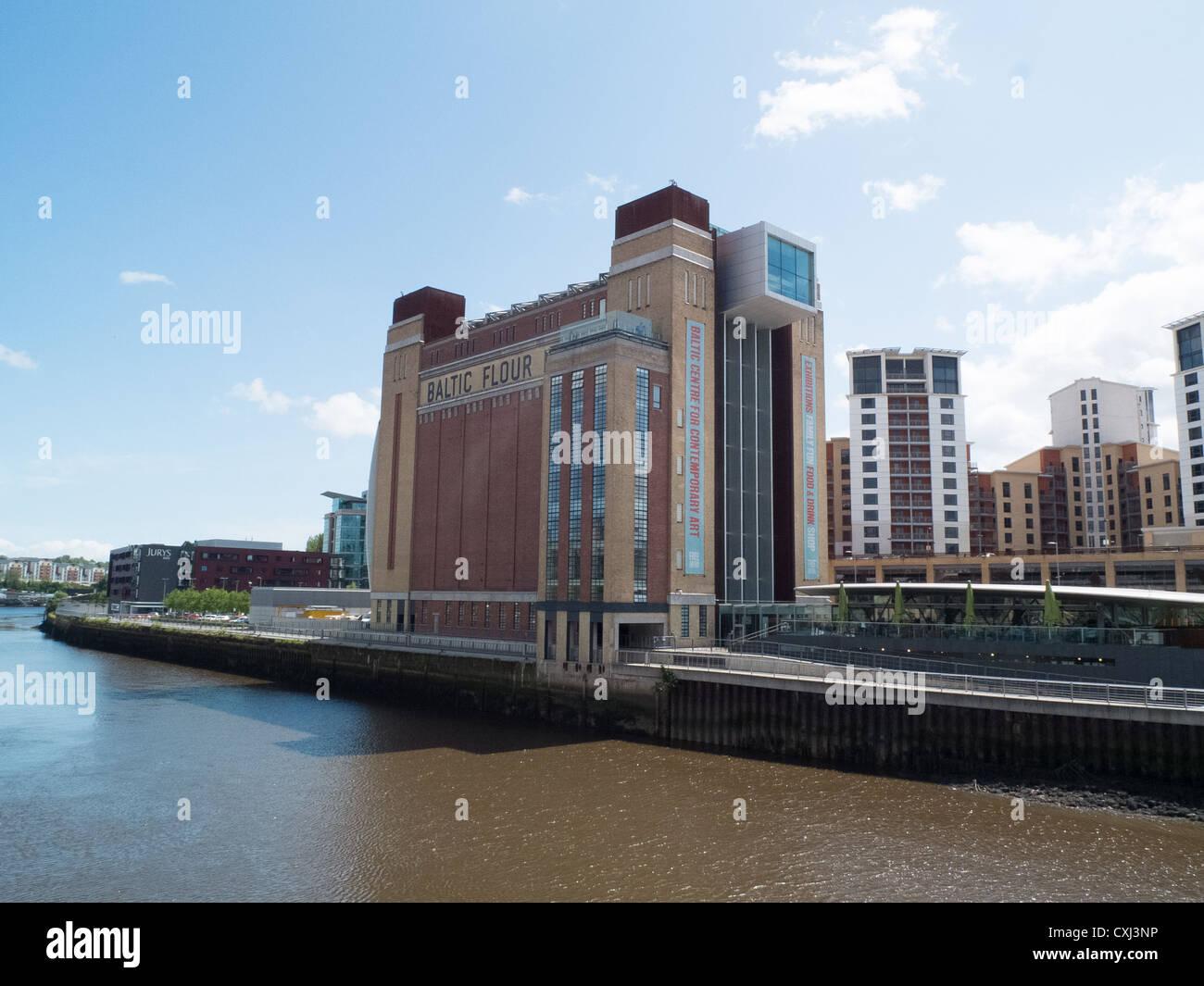 Baltic Centre center for Contemporary Art, flour mill, Newcastle - Stock Image