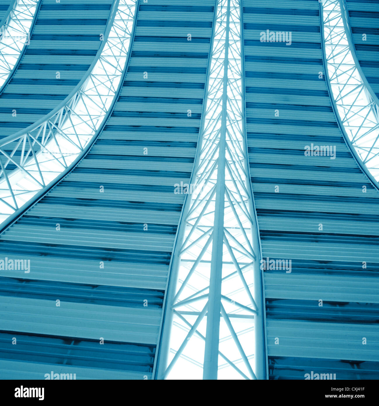 modern city architecture ceiling detail - Stock Image