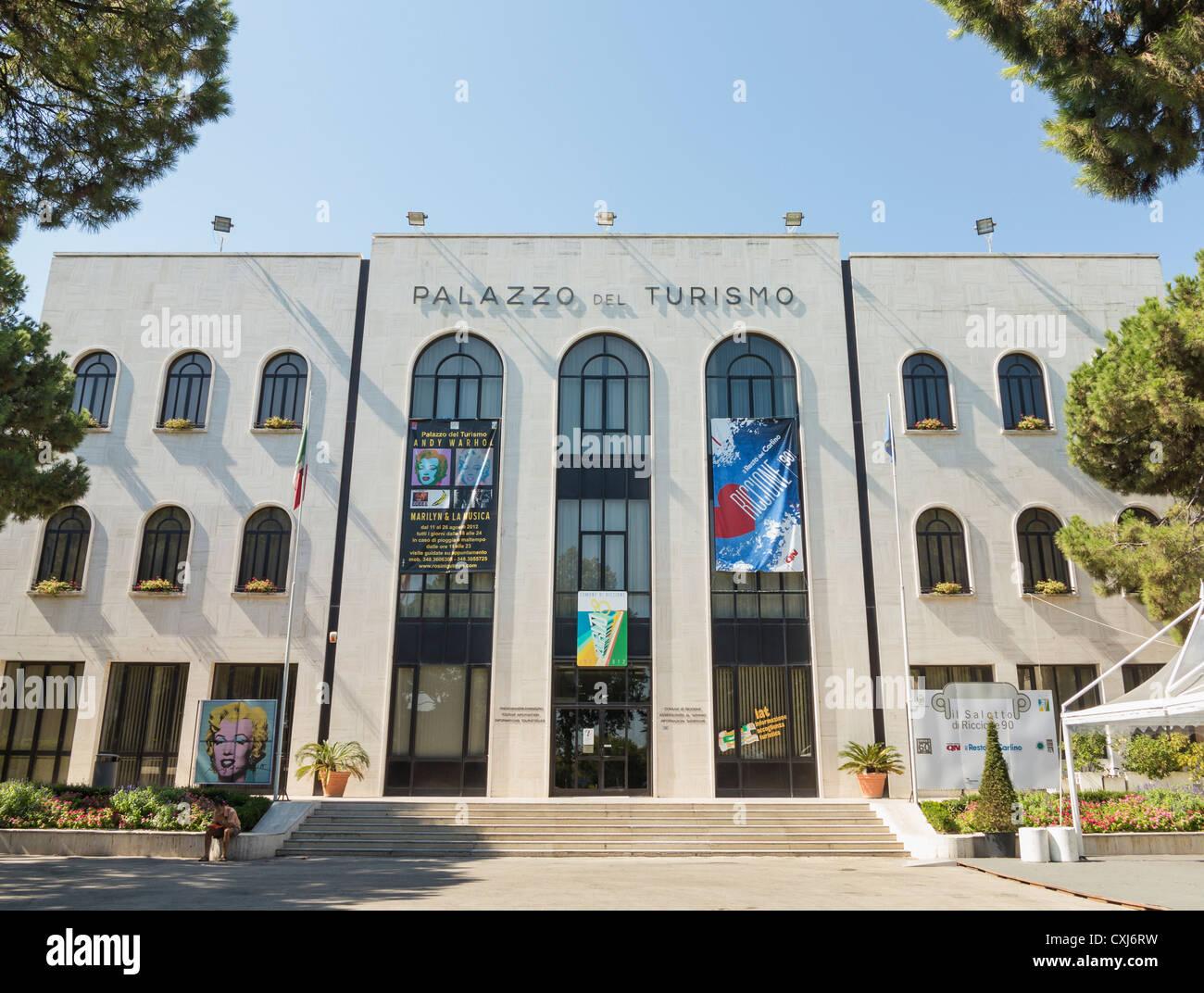 Palazzo del turismo,Riccione, Italy - Stock Image