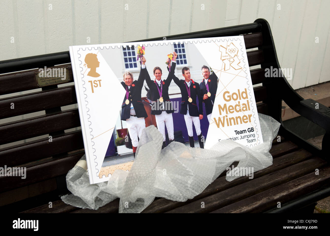 Giant 2012 London Olympics stamp - Stock Image