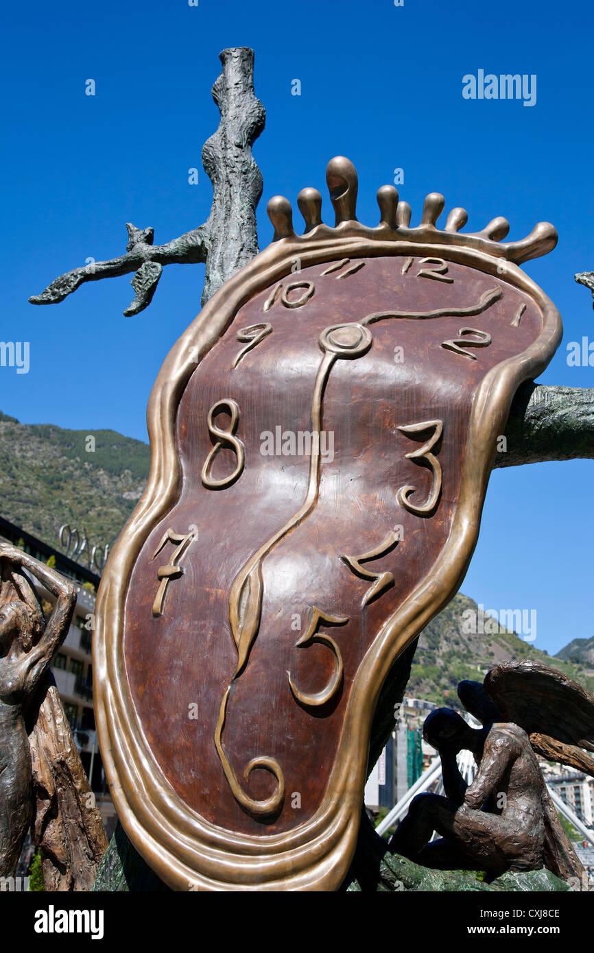 'La Noblesse du Temps' sculpture (1977) Artist: Salvador Dali Andorra La Vella. Andorra - Stock Image