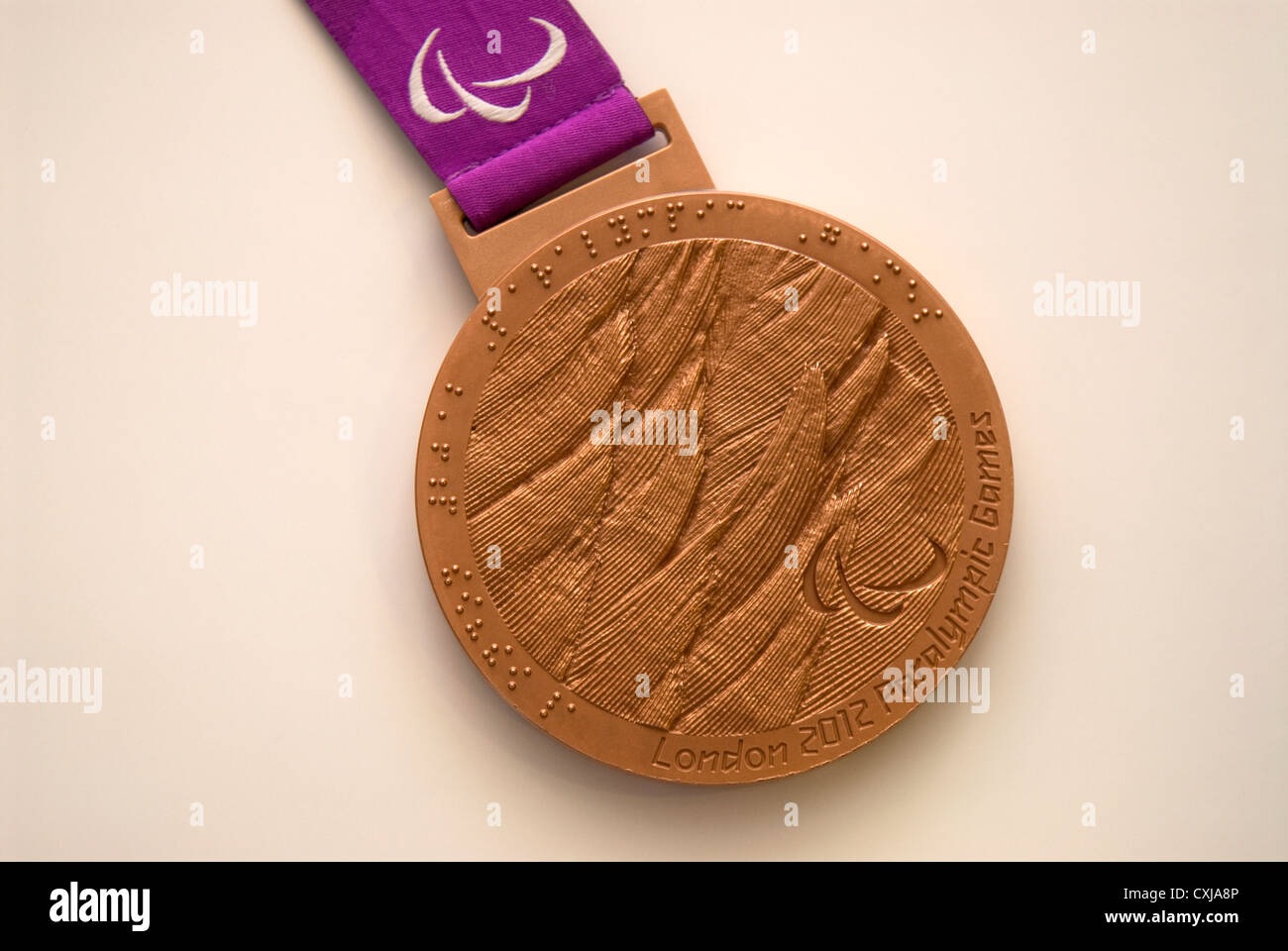 Bronze medal won at London 2012 Paralympic Games by Olivia Breen. - Stock Image