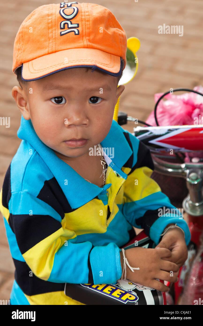Laotian child, Vientiane, Laos - Stock Image