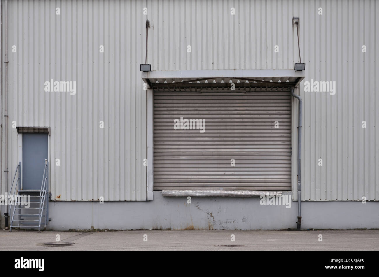 Germany, Bavaria, Ramp output of factory building - Stock Image