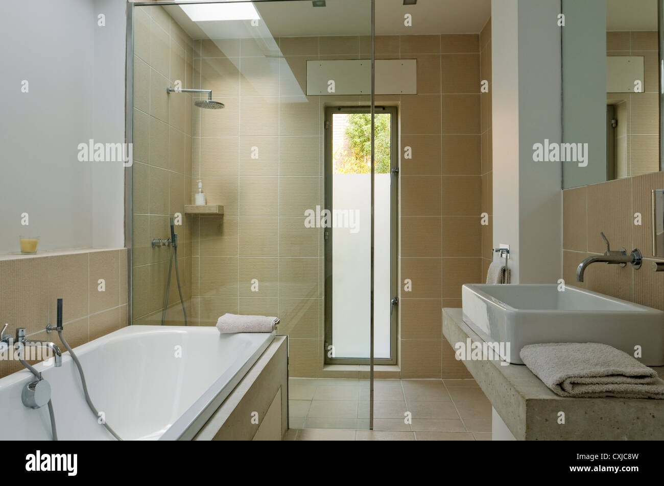 Ground Floor Bathroom With Skylight And Philippe Starck