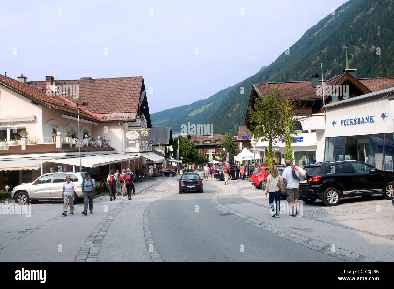 Mayrhofen, Zillertal, Tyrol, Austria - Stock Image