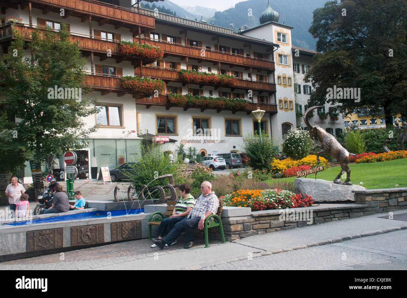 Mayrhofen, Zillertal, Tyrol, Austria Stock Photo