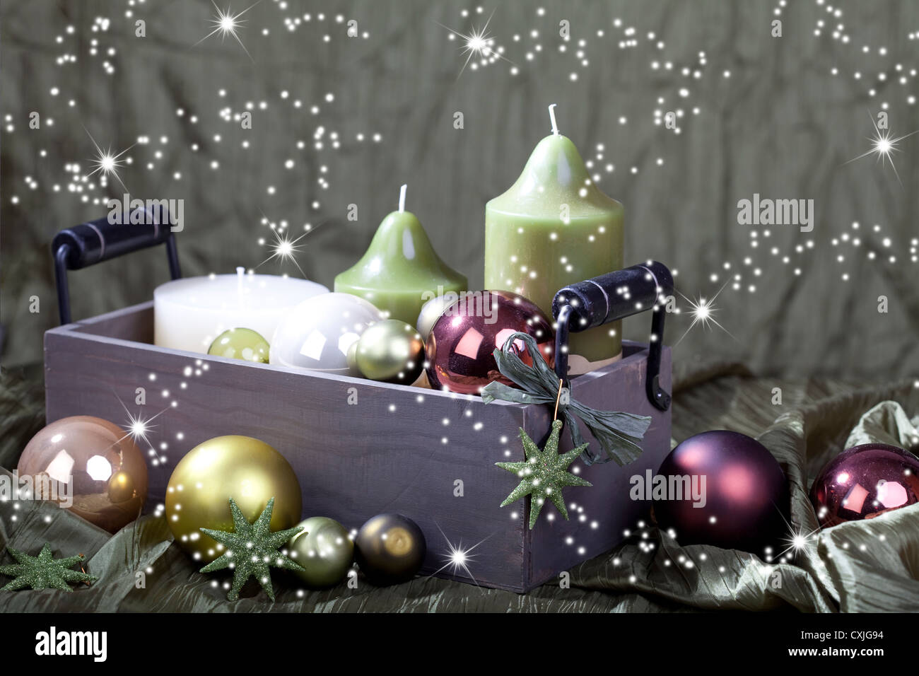 christmas card Weihnachten Karten - Stock Image