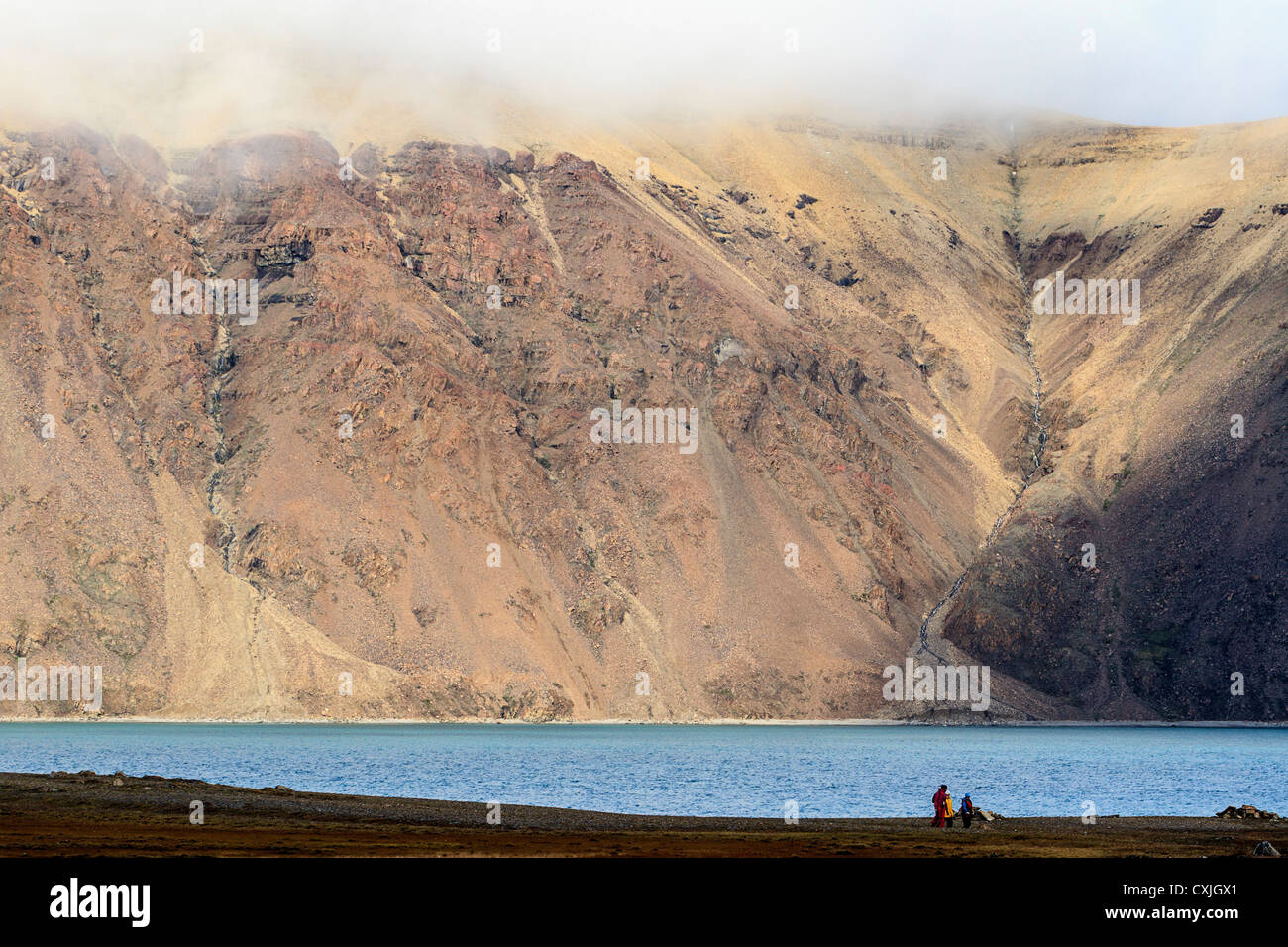 Dundas Harbour, Nunavut, Canadian high arctic. Early August. - Stock Image