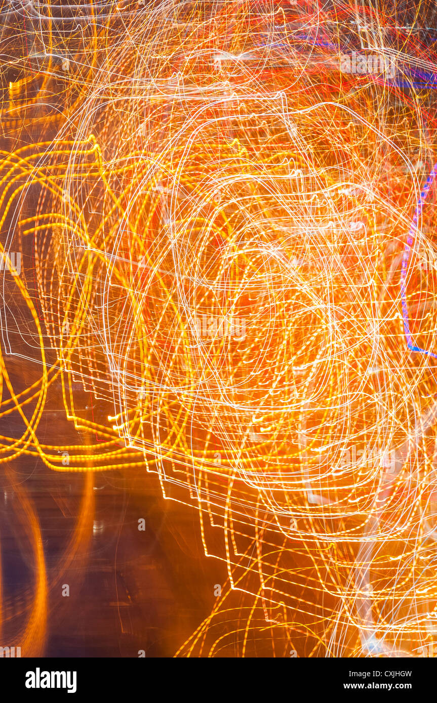 abstract light pattern created in camera - Stock Image