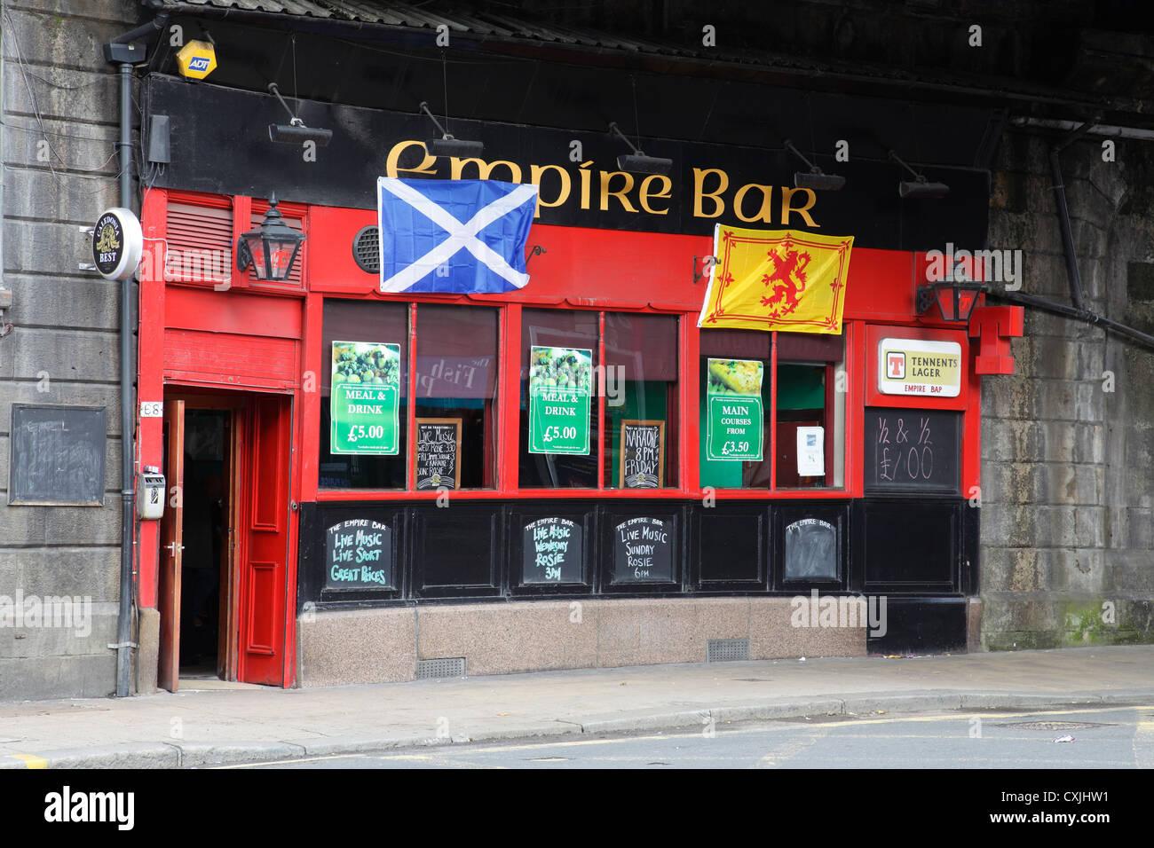 The Empire Bar on Saltmarket in the Merchant City area of Glasgow city centre, Scotland, UK - Stock Image