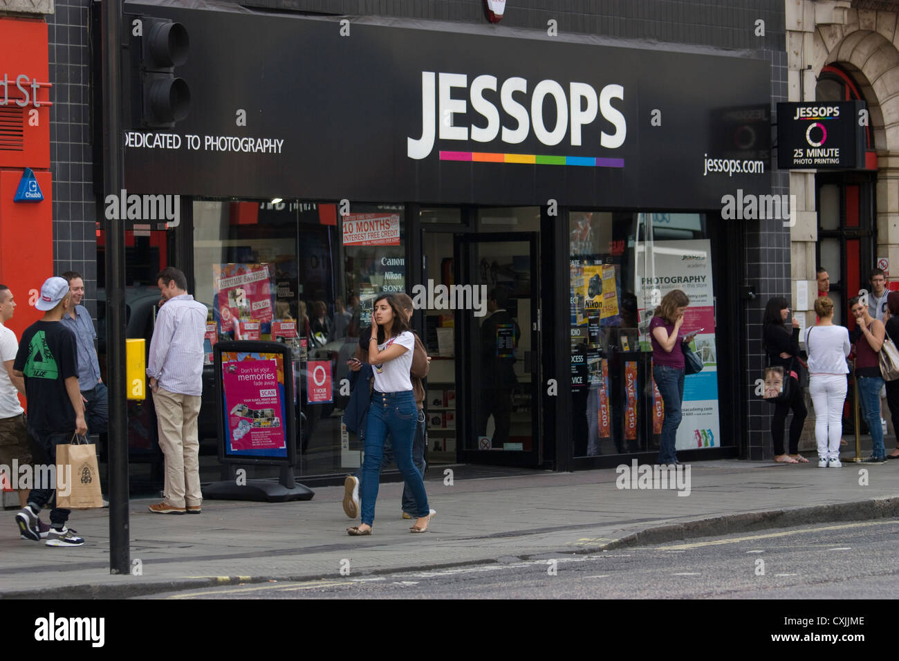 oxford Street jessops photographic retailer shop store - Stock Image
