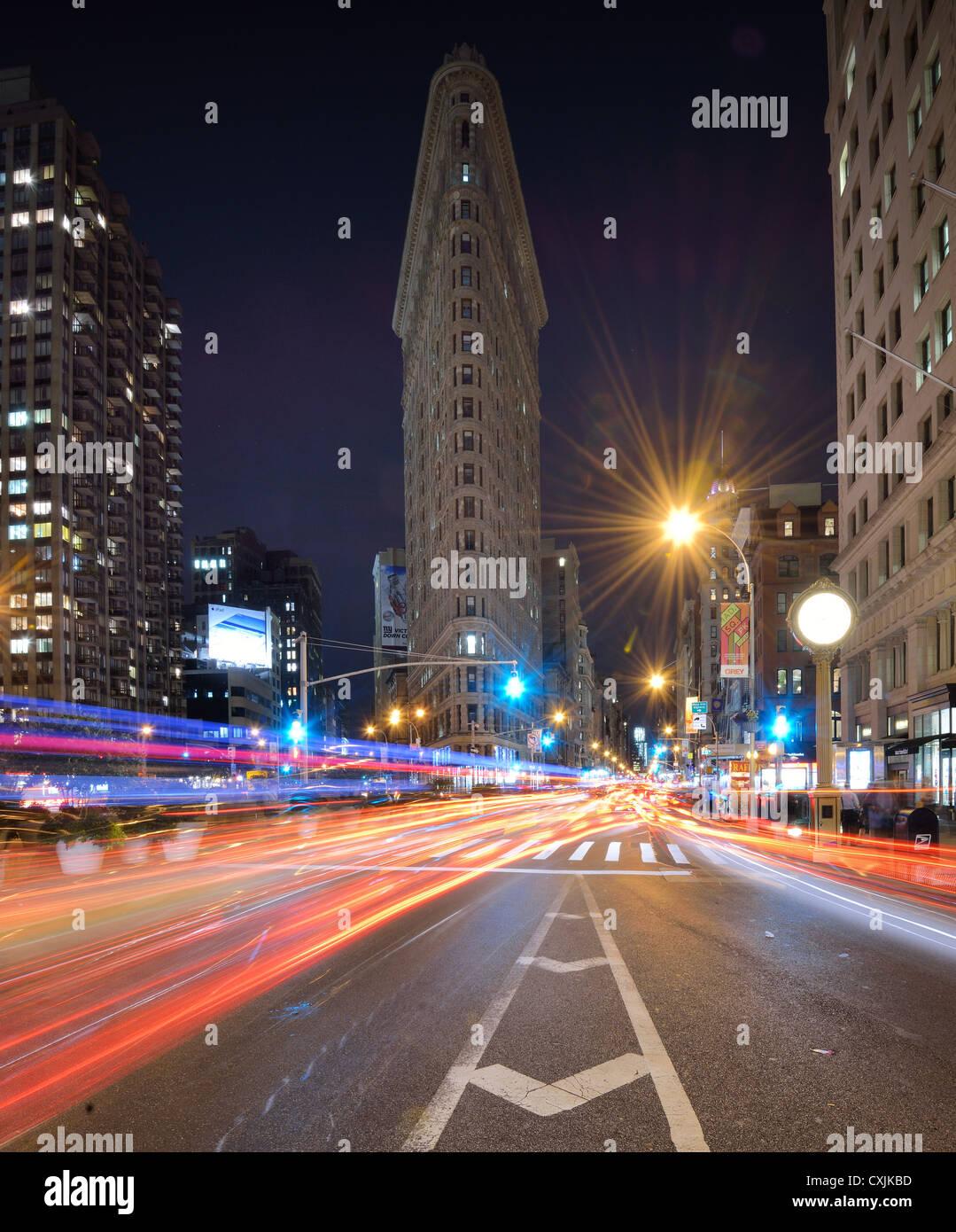 Flatiron Building in New York City - Stock Image