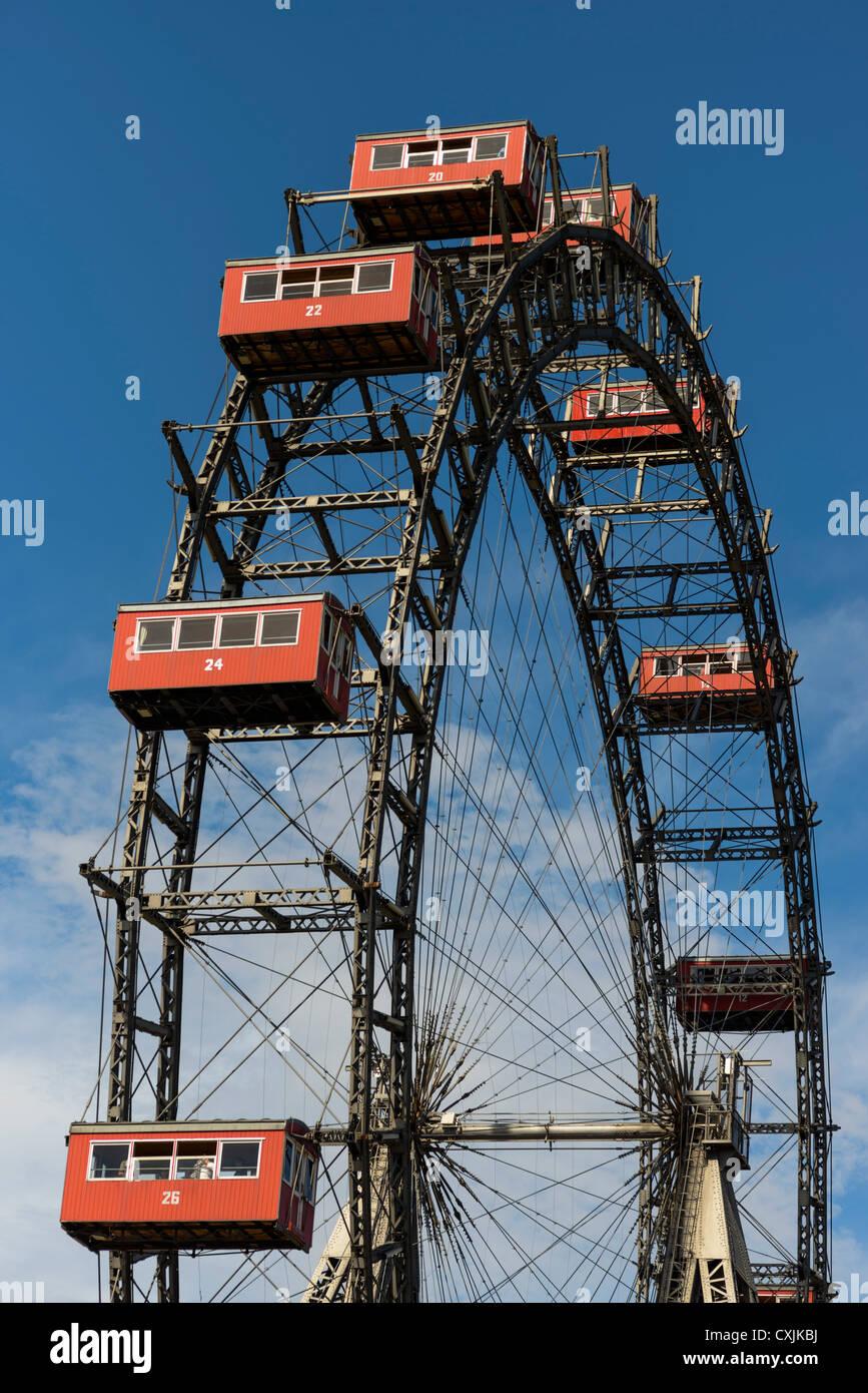 The  Wiener Riesenrad Ferris Wheel, Prater ,Vienna, Austria, Europe - Stock Image