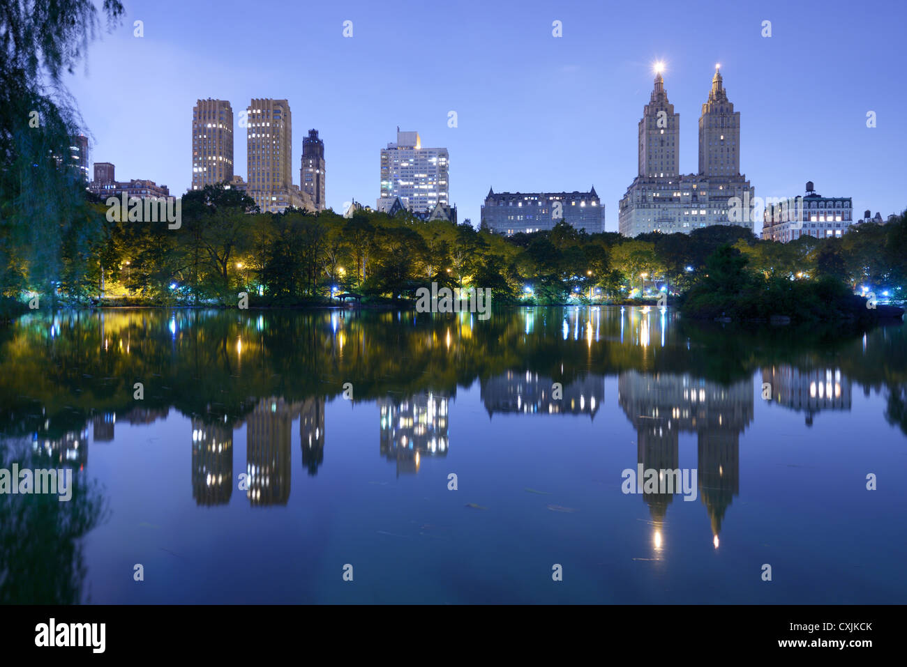 The Lake in New York City's Central Park - Stock Image
