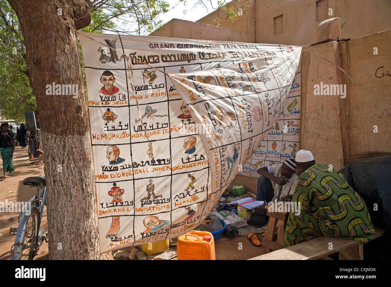 Traditional healer, Mopti, Mali, West Africa - Stock Image