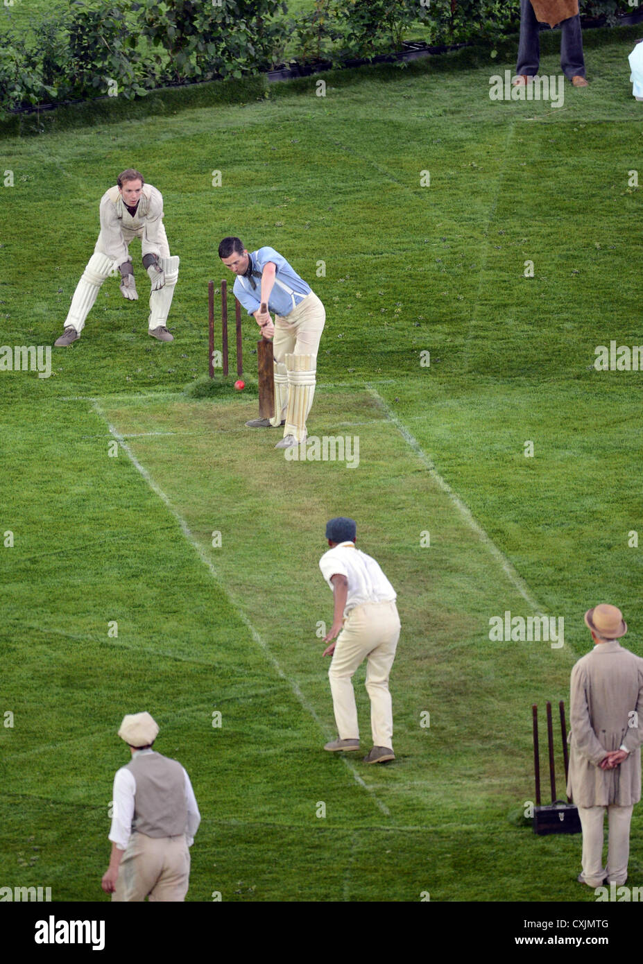 cricket on the green - Stock Image