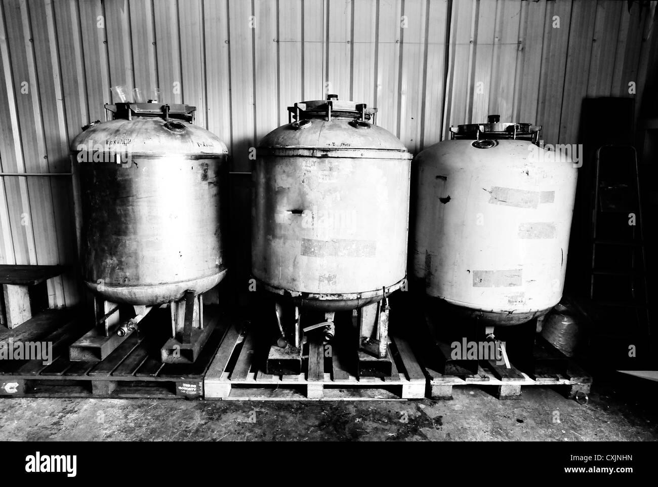 Beer stills brewing fermentation - Stock Image