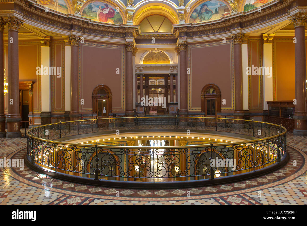 Rotunda Entrance To The Senate Chamber In The Iowa State
