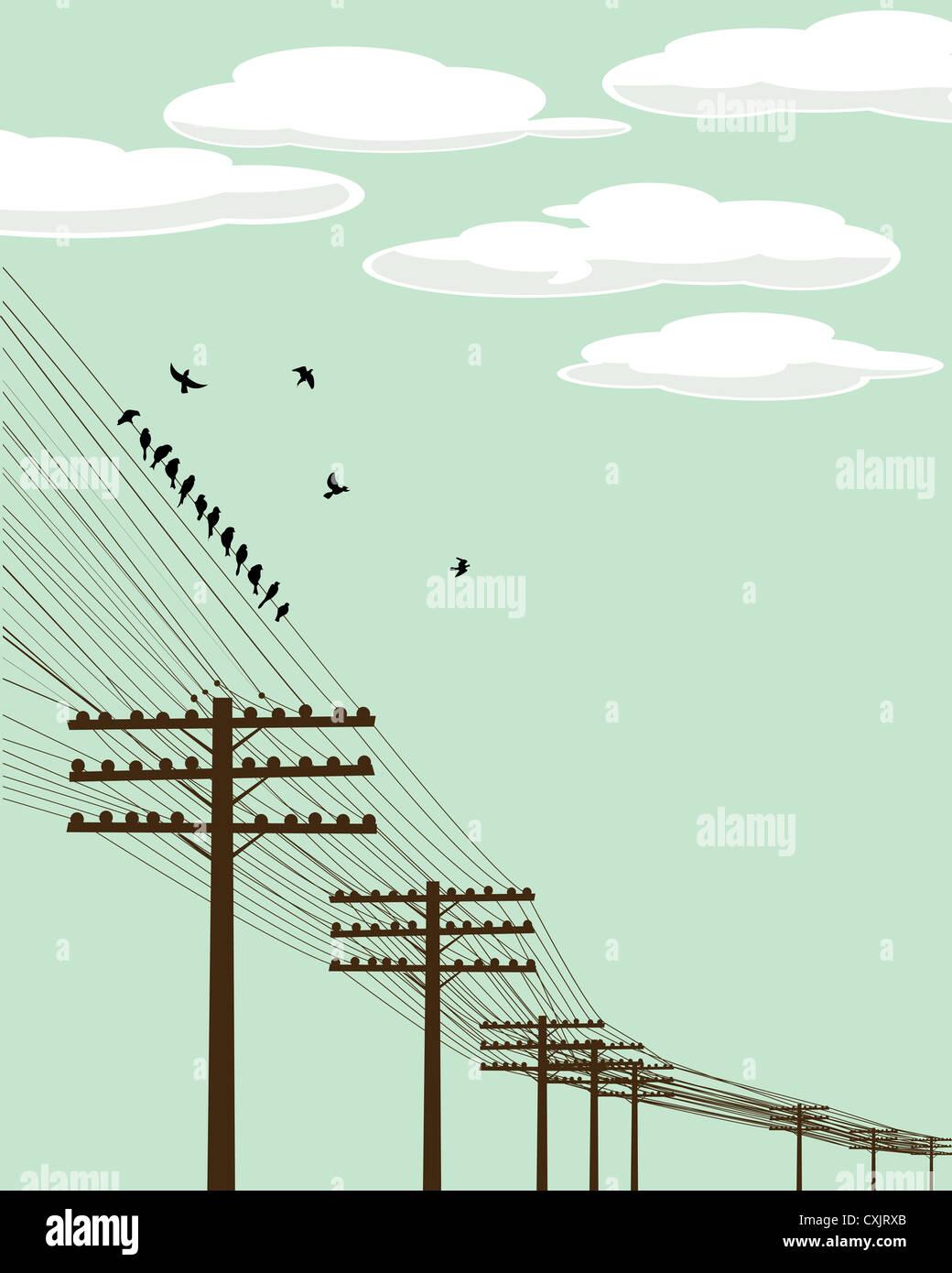 Flying birds - Stock Image