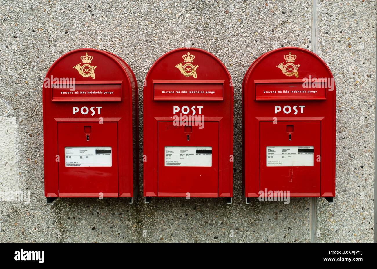Danish mailboxes Stock Photo
