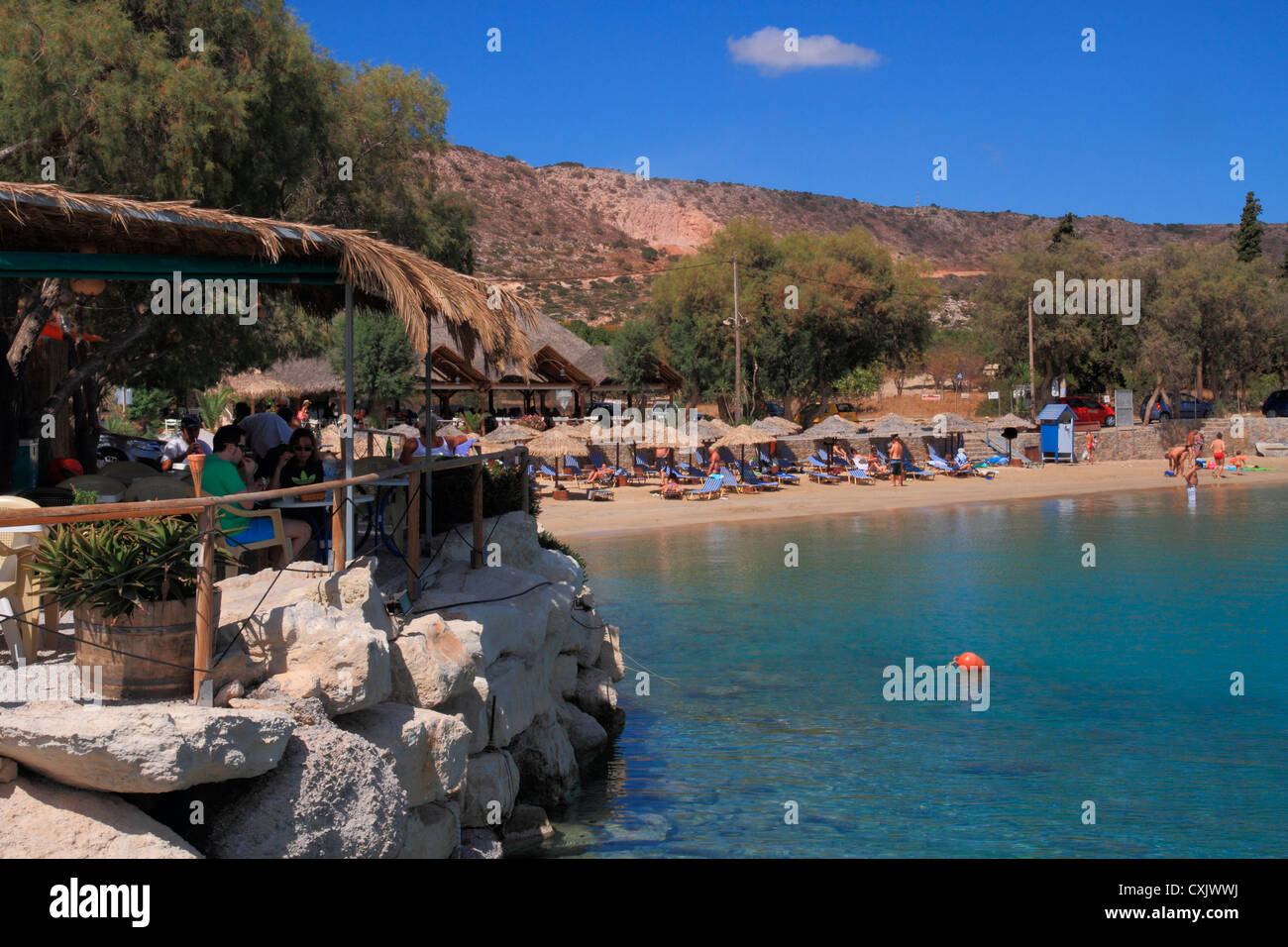 Greece Crete Chania Akrotiri Marathi beach Stock Photo