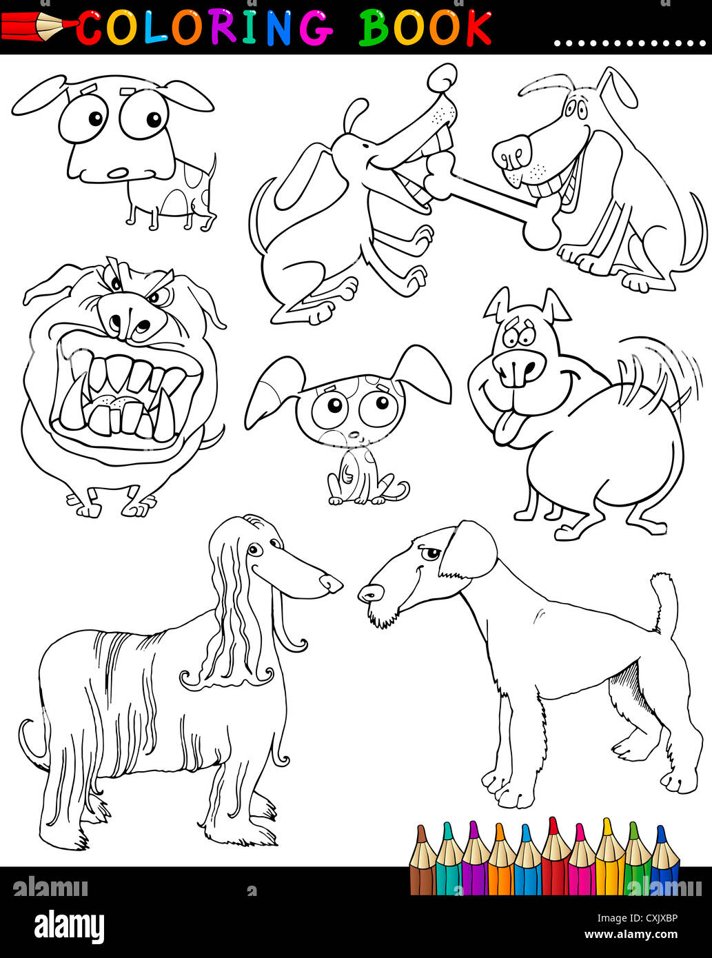 Airedale Terrier Mongrel Stock Photos U0026 Airedale Terrier Mongrel Bedlington  Terrier Airedale Terrier Coloring Book