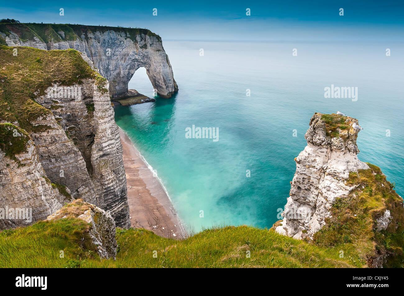 France, Normandy, Coast, Etretat, France, Europe - Stock Image