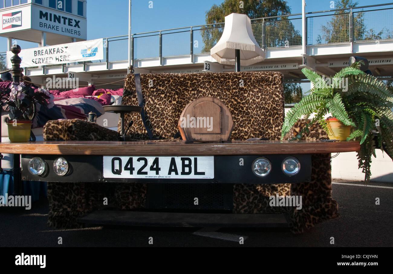 Car (road legal) that looks like a Sofa - Stock Image
