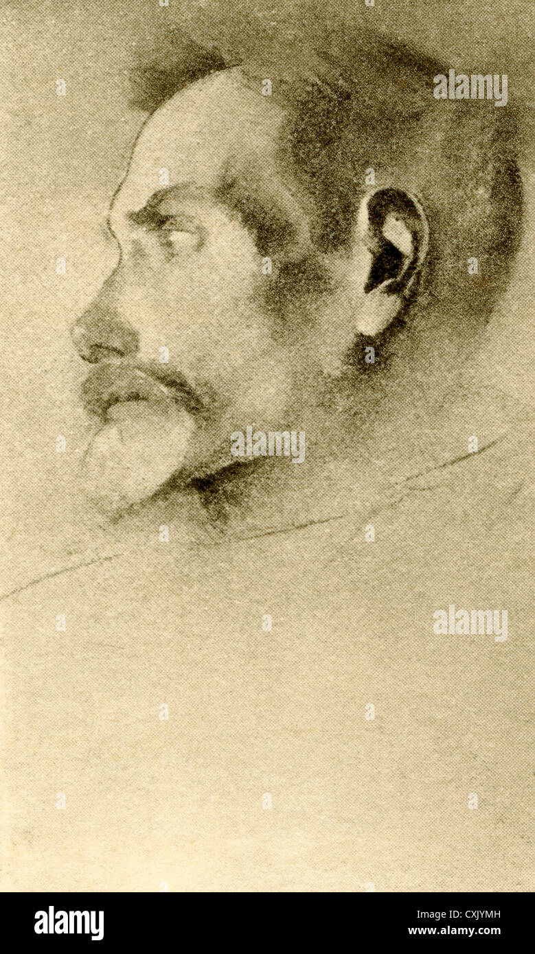 Francis Thompson, 1859 – 1907. English poet and ascetic. From The Hound of Heaven by Francis Thompson, published - Stock Image