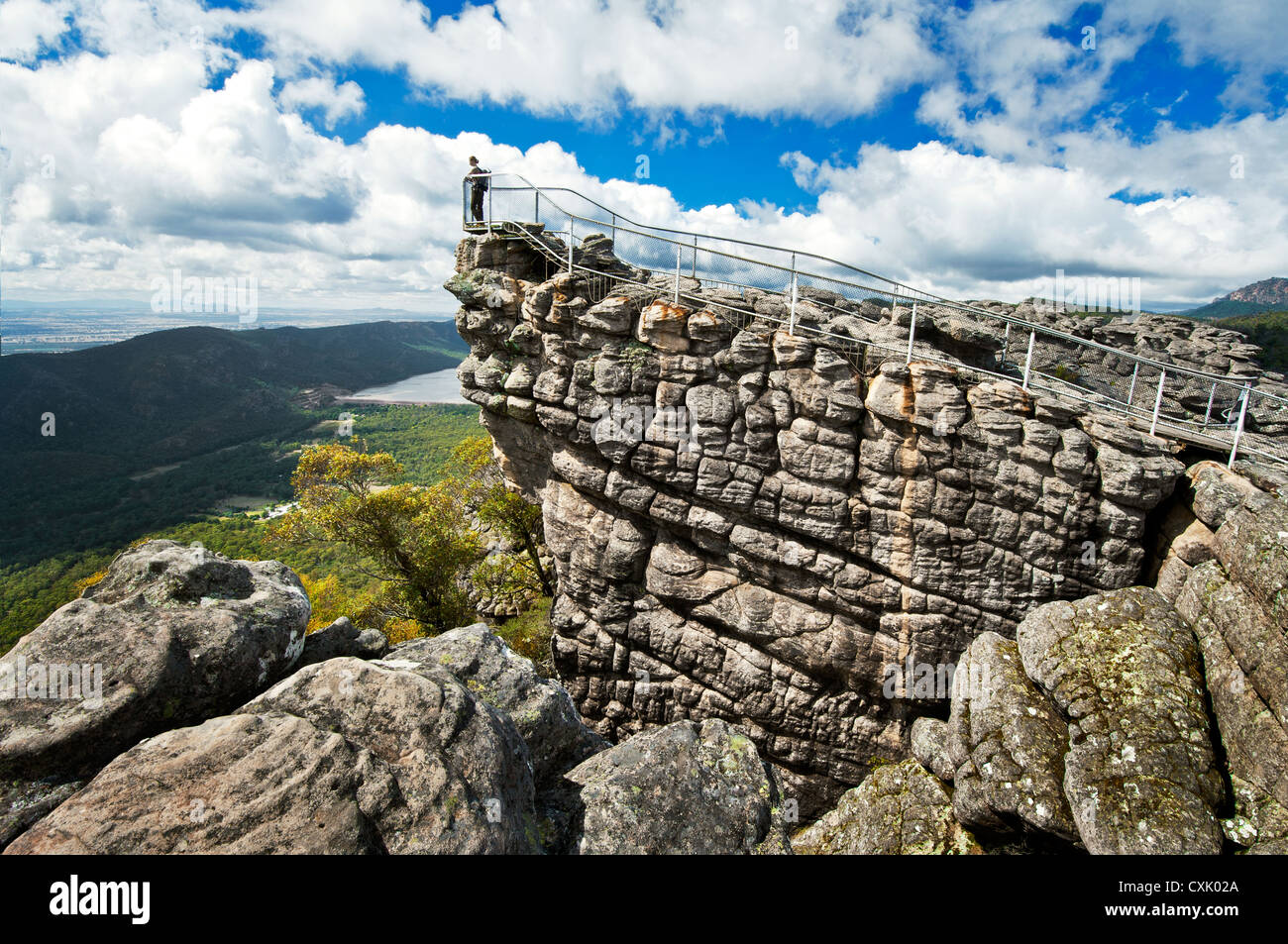 Lookout from the Pinnacle in Grampians National Park. - Stock Image