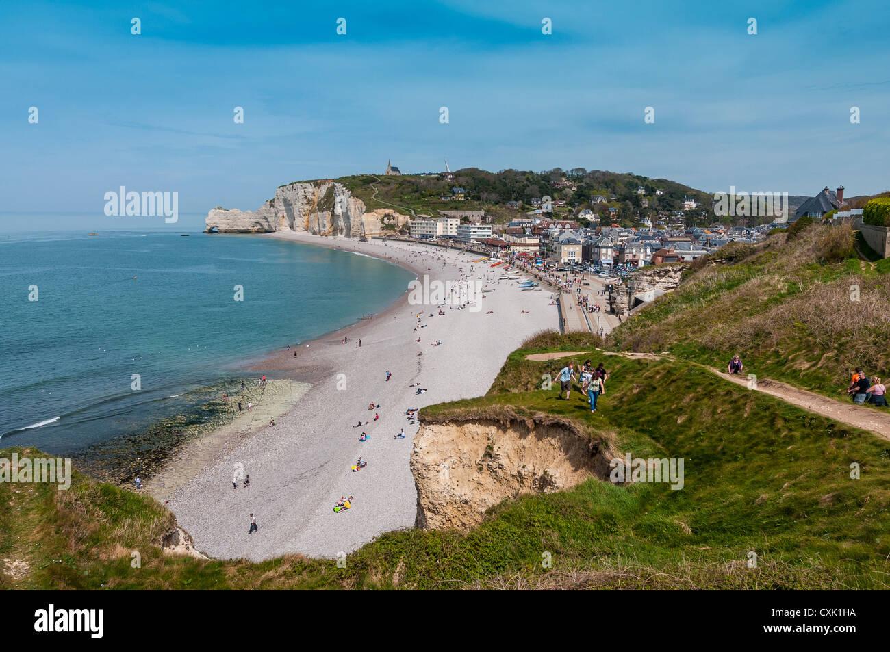 France Normandy Coast Etretat - Stock Image