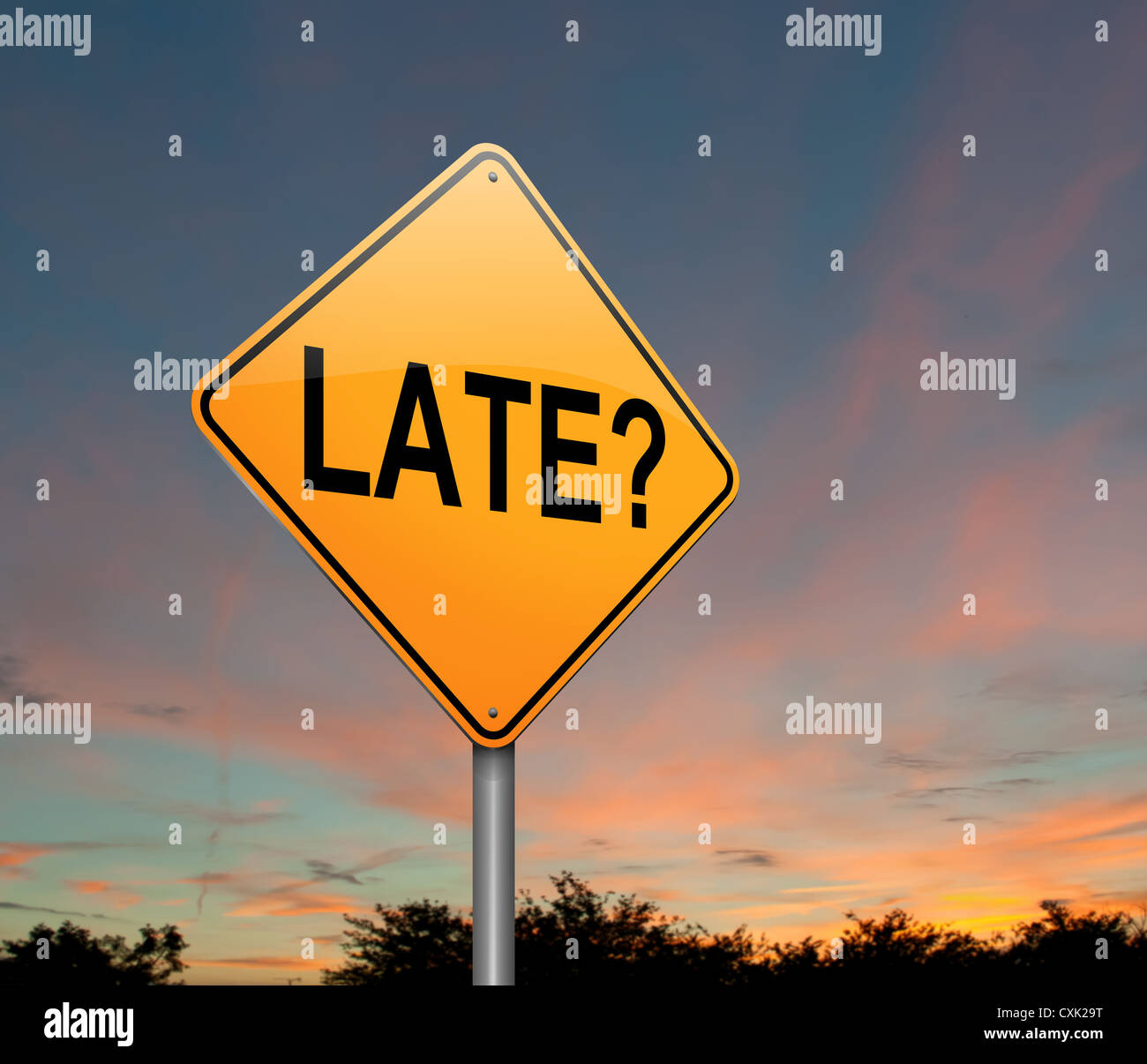 Late. Stock Photo