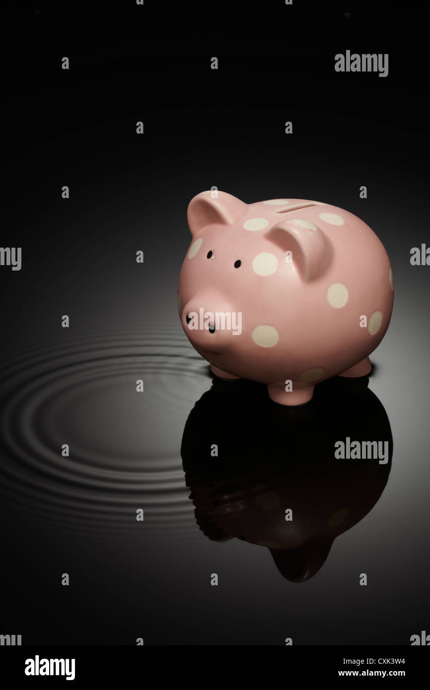 Piggy Bank with Halo - Stock Image