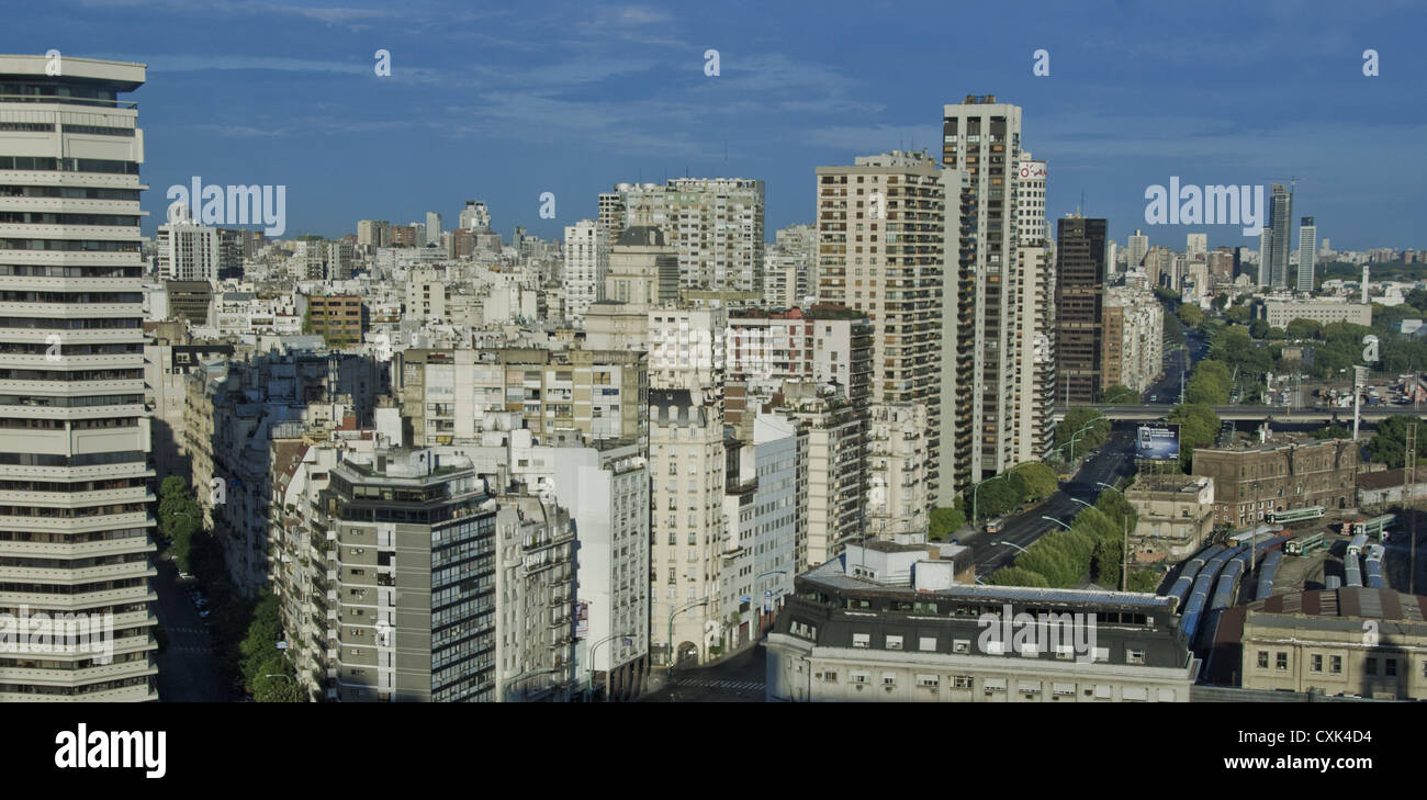 Sunrise on Libertador Avenue in Buenos Aires, Argentina,South America - Stock Image