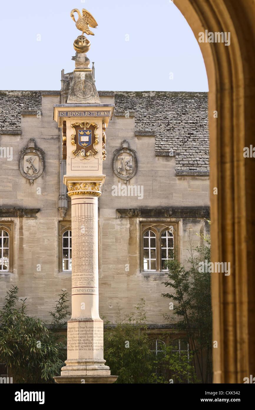 UK Oxford Corpus Christi College Entrance - Stock Image