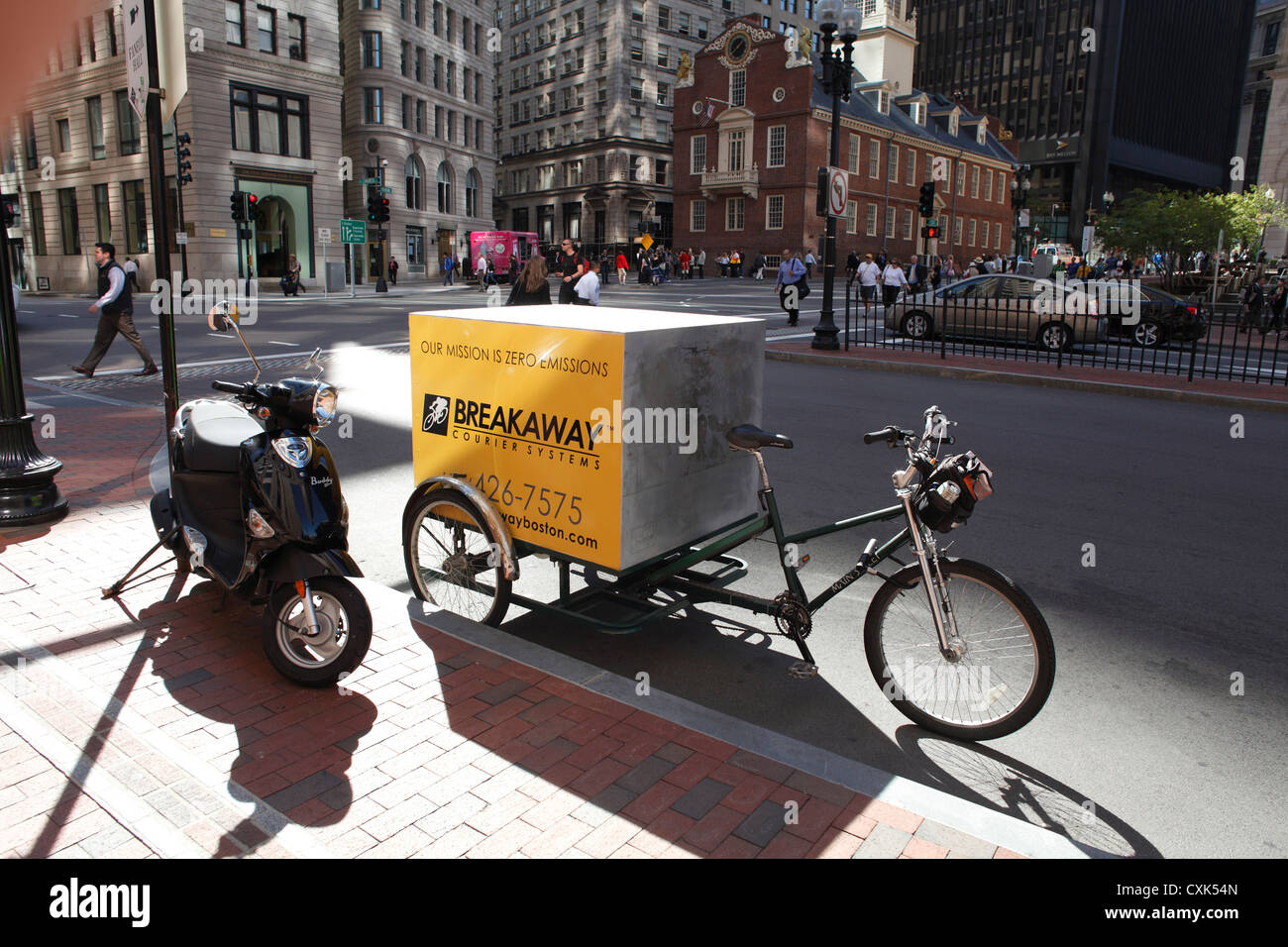 Bicycle Courier Vehicle of Breakaway Courier Systems Parked