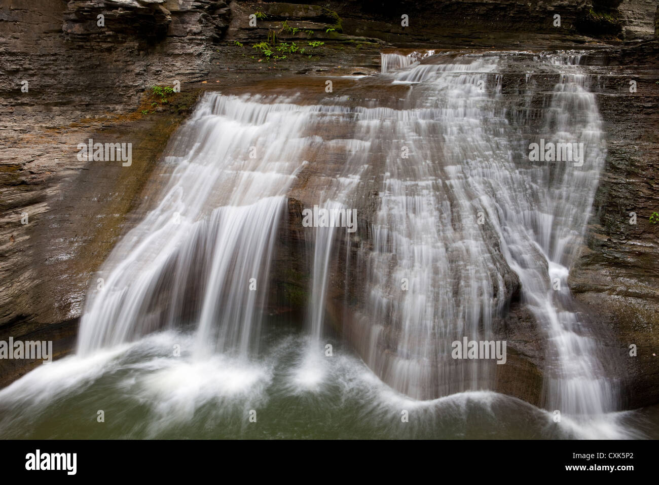 Buttermilk Falls State Park, Ithaca, New York - Stock Image