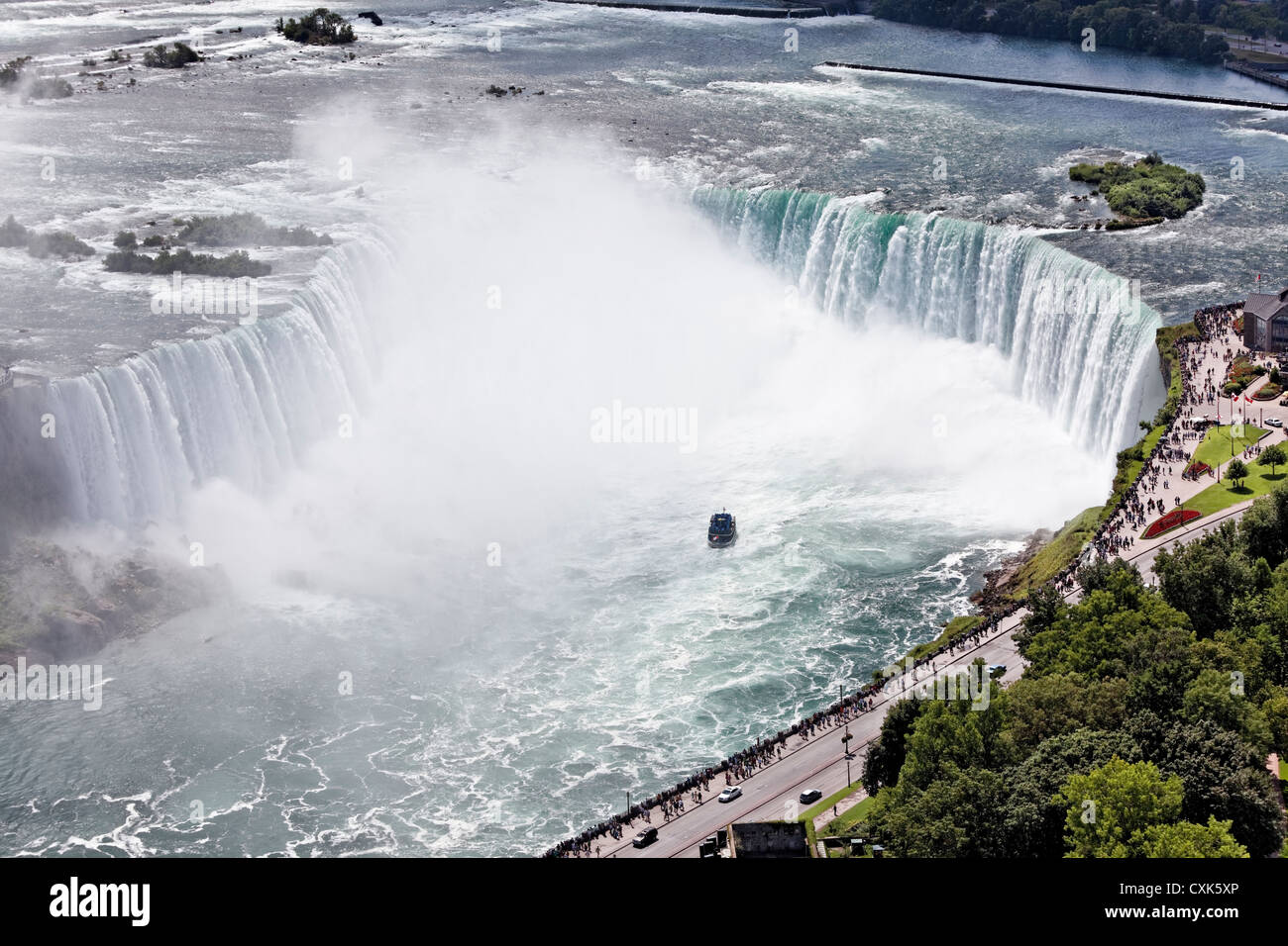 The Horseshoe Falls at Niagara Falls, Ontario, Canada - Stock Image