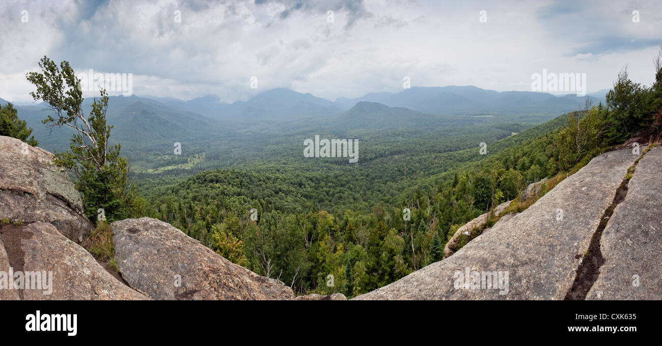View from Mt. Van Hoevenberg, Adirondack Mountains, New York - Stock Image
