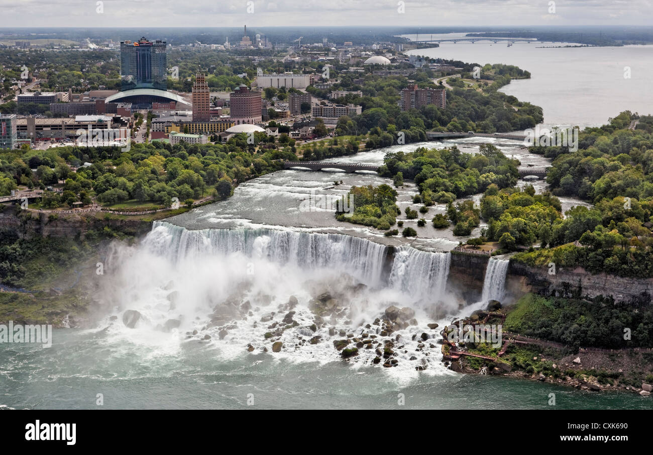 The American Falls at Niagara Falls, New York - Stock Image