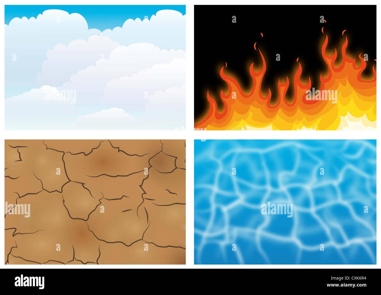 four elements - Stock Image