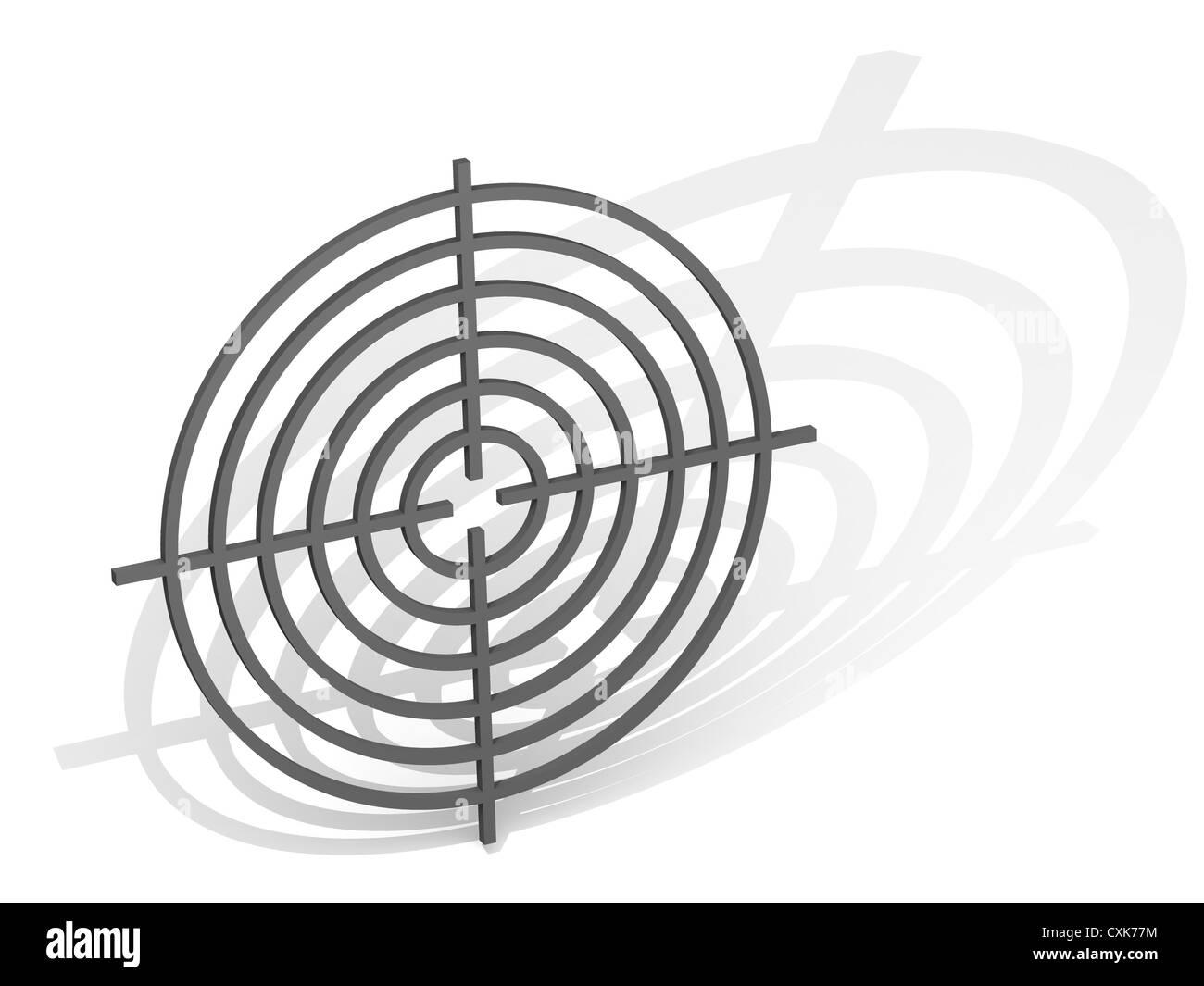 Target. 3d - Stock Image