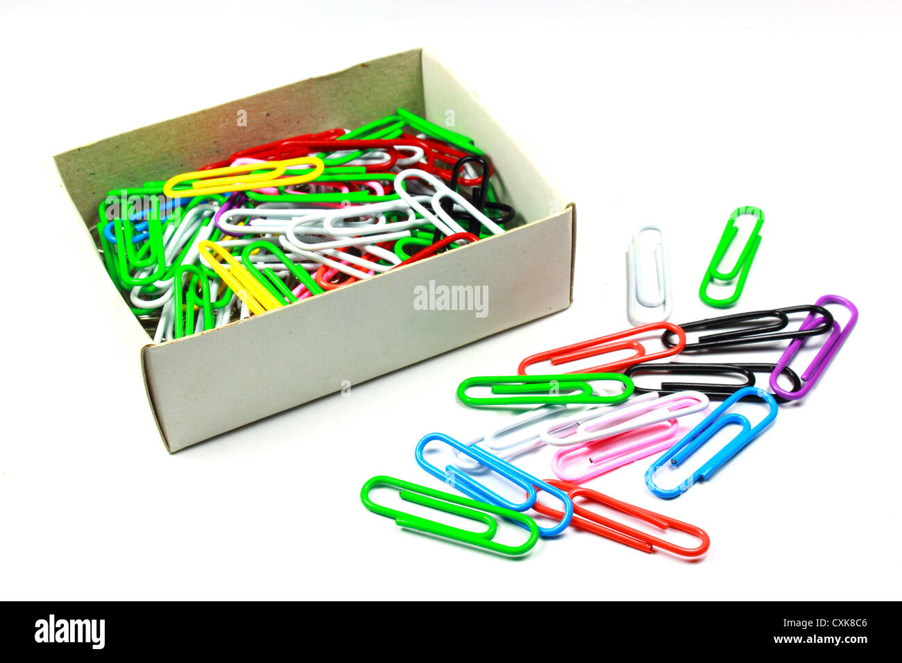 paper clip in a box stock photo: 50825494 - alamy