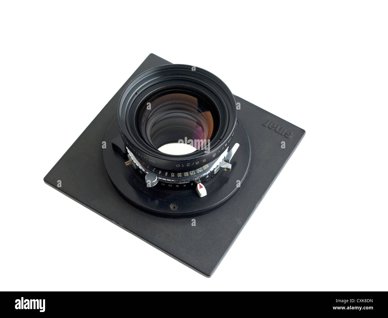 camera lens, large format - Stock Image