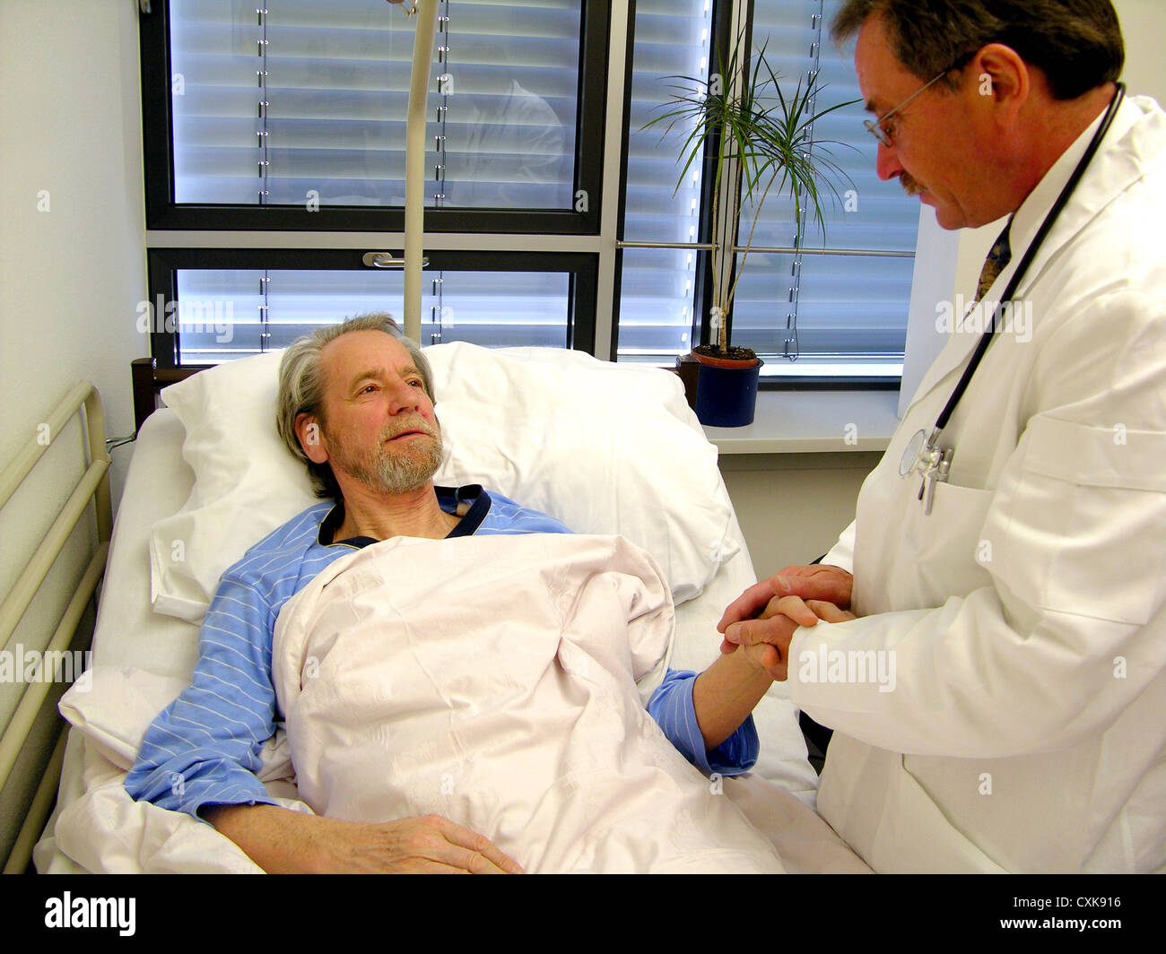 Doctor's visit in the hospital Stock Photo