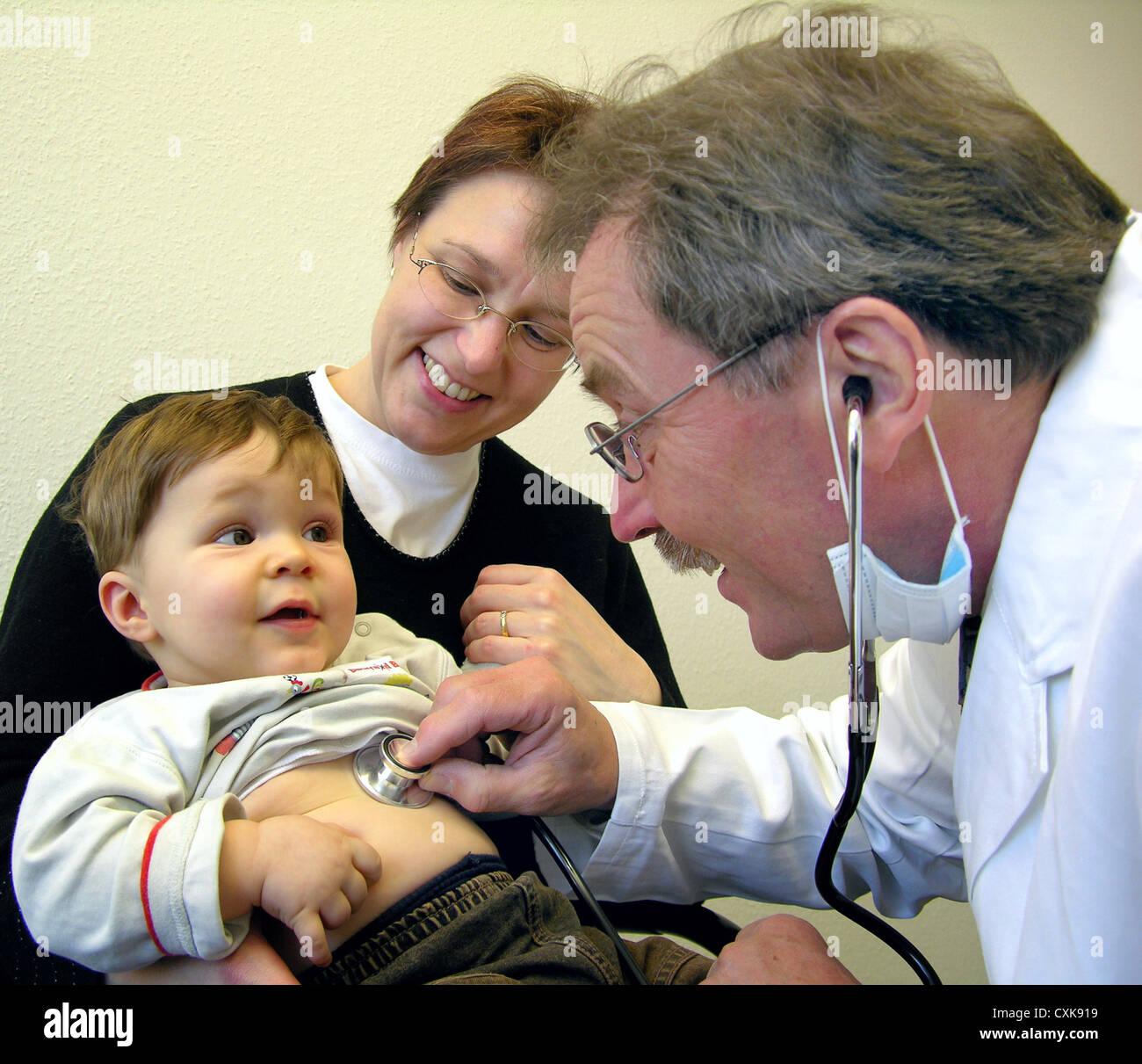 The pediatrician Stock Photo