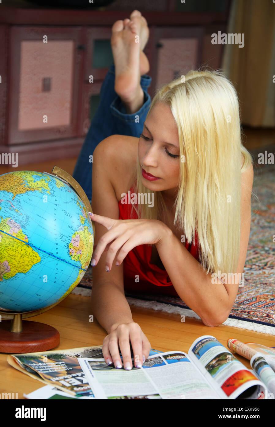 travel plan - Stock Image